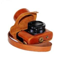 Kulit PU Berkualitas Tinggi Camera Case untuk Canon PowerShot G1X Mark II G1X2 G1X M2 G1X II G1X Kamera Digital (Brown) -Intl