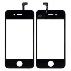 Hitam Putih Lensa Kaca Depan + Digitizer Layar Sentuh untuk IPhone 4 S Luar Panel Sentuh