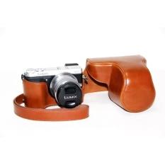Kualitas Tinggi Retro Vintage Case untuk DMC-GX7 GX7 Tas Kamera Case PU Kulit Pelindung Cover Pouch dengan Kamera Strap-Intl