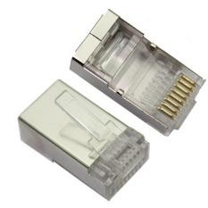Kualitas tinggi RJ45 terlindung steker Cat5 8P8C konektor LAN jaringan (100 buah dalam satu pengemasan, untuk harga itu  100 buah) (International)