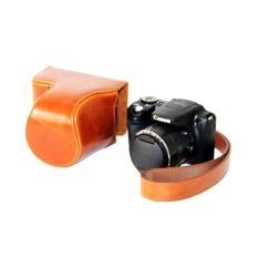 Tinggi Kualitas Kulit PU Paling Bagus Tas Penutup Tas dengan Shoulderstrap untuk Canon PowerShot SX500HS/SX510HS-Intl