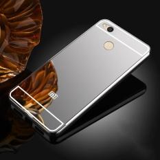 High Quanlity Mirror Metal Aluminum Case + Ultra Slim Acrylic Back Cover For Xiaomi Redmi 4X 5.0