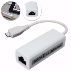 HIGH SPEED Micro USB 2.0 untuk 10/100 MBPS RJ45 LAN ETHERNET ADAPTOR CONVERTER KABEL
