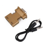 Ulasan Lengkap High Tech Hdmi Female To Vga Male Converter Audio Adapter 1080P Gold Dongle Pc Laptop Intl