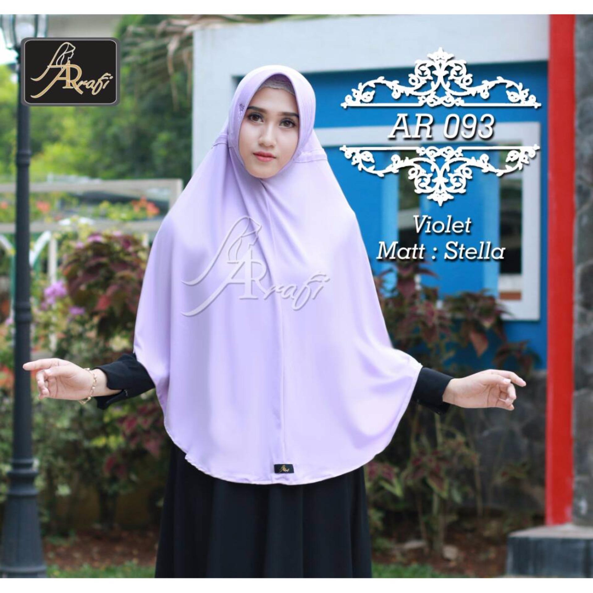 Diskon Produk Hijab Ar Rafi Jilbab Instan Serut Tali Belakang Ar 93Jb Violet