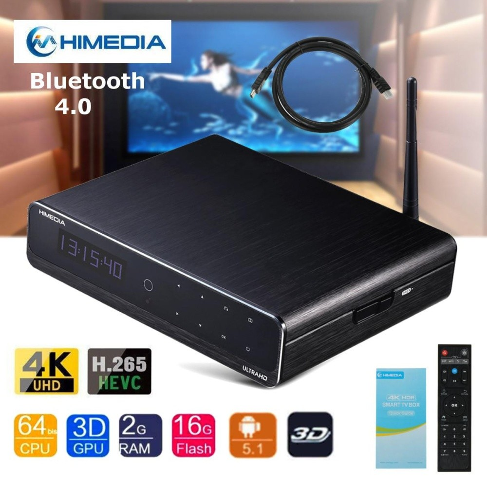 Beli Himedia Q10 Pro Android Uhd Media Player Quad Core 4 K Tv Box Hevc H 265 Dengan Remote Intl Not Specified Asli