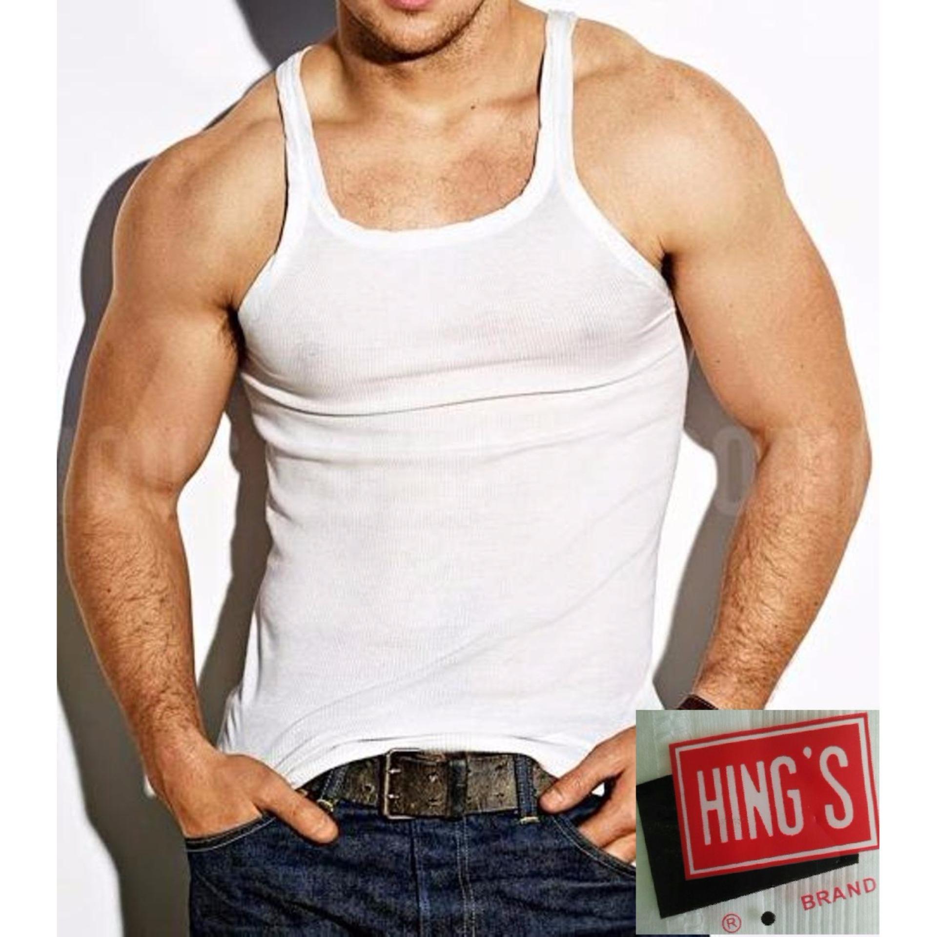 Hing's - 2 Pcs Kaos Dalam Pria - Singlet Pria