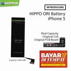 Hippo Baterai Double Power Iphone 5   5G 1440 mAh Original - Real Capacity  - Garansi 45abc0737d