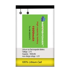 Hippo Battery For Nokia Bl 5C 1600 Mah Value Pack Hippo Diskon 40