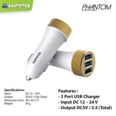 Hippo Car Charger Phantom series 3 port (5.5A) Simple Pack