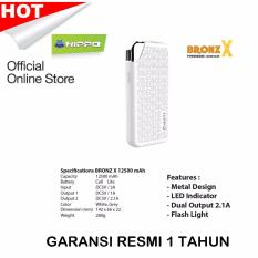 Harga Hemat Hippo Power Bank Bronz X 12500 Mah Simple Pack Putih