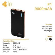 Spesifikasi Hippo Power Bank Ilo P1 9000 Mah Online