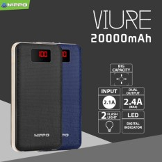 Hippo Power Bank Viure 20000MAH Simple Pack - Hitam