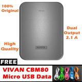 Miliki Segera Hippo Stan 6600Mah Power Bank Original 2 1A Free Vivan Micro Usb Data Cable