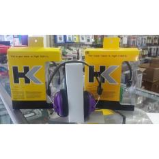 HK Powerfull Bass Headset Universal 3,5 mm for Iphone Samsung Oppo Vivo Xiomi Lenovo Asus Advan Evercross Blackberry Acer. Non Mic - Foto Asli