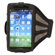 HKS Lari Olahraga Gym Ban Lengan Penutup Case untuk Samsung Galaxy I9500 S4 Abu-abu