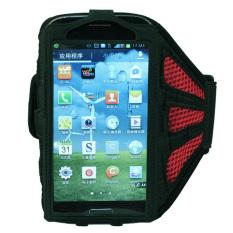 HKS Lari Olahraga Gym Ban Lengan Penutup Case untuk Samsung Galaxy I9500 S4 Merah-Intl