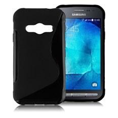 HKS S-Line Soft TPU Silicone Case untuk Samsung Galaxy Xcover 3 G388F Hitam-Intl