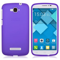HKS Lembut TPU Karet Gel Kasus untuk Alcatel One Touch POP C7 OT-7040/7041D (Ungu)-Intl