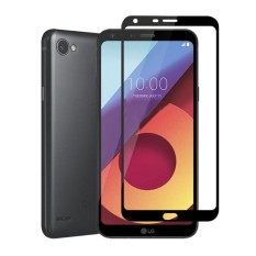 HMC LG Q6 / Q6 Plus Tempered Glass - 2.5D Full Screen - Lis Hitam