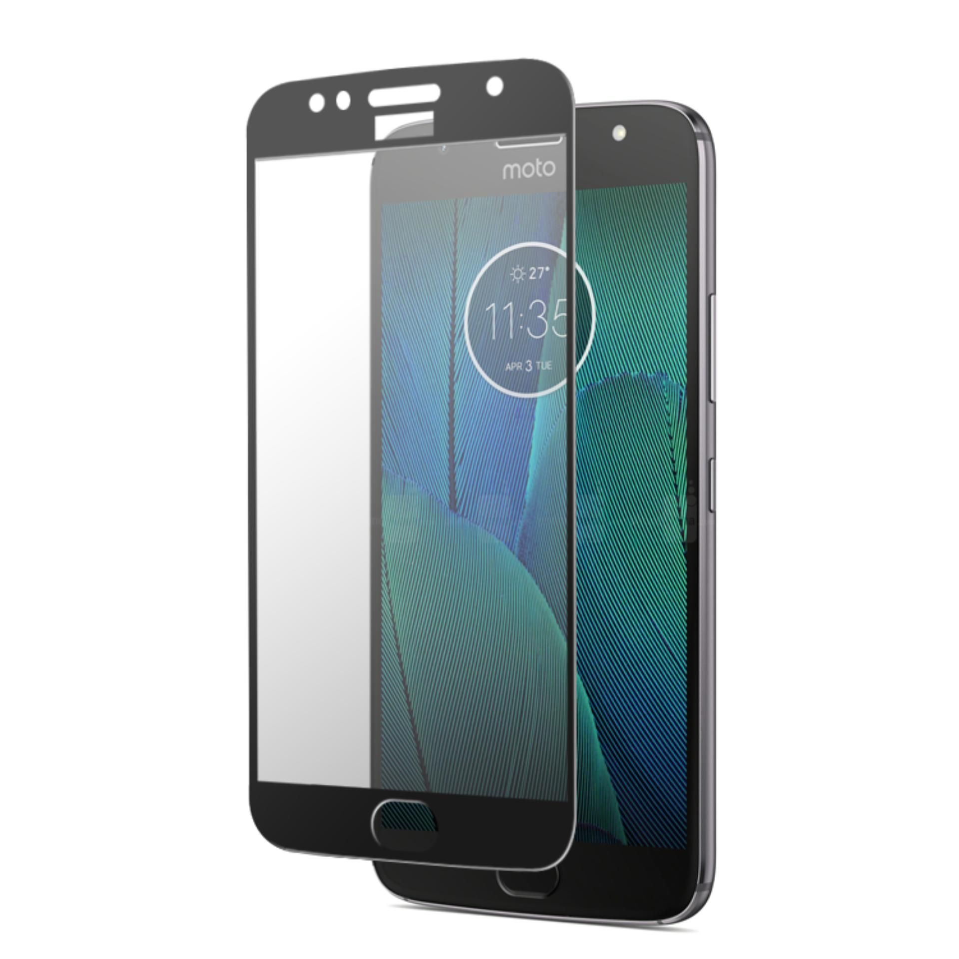 Miliki Segera Hmc Motorola Moto G5S Plus 2017 Xt1805 Tempered Glass 2 5D Full Screen Lis Hitam