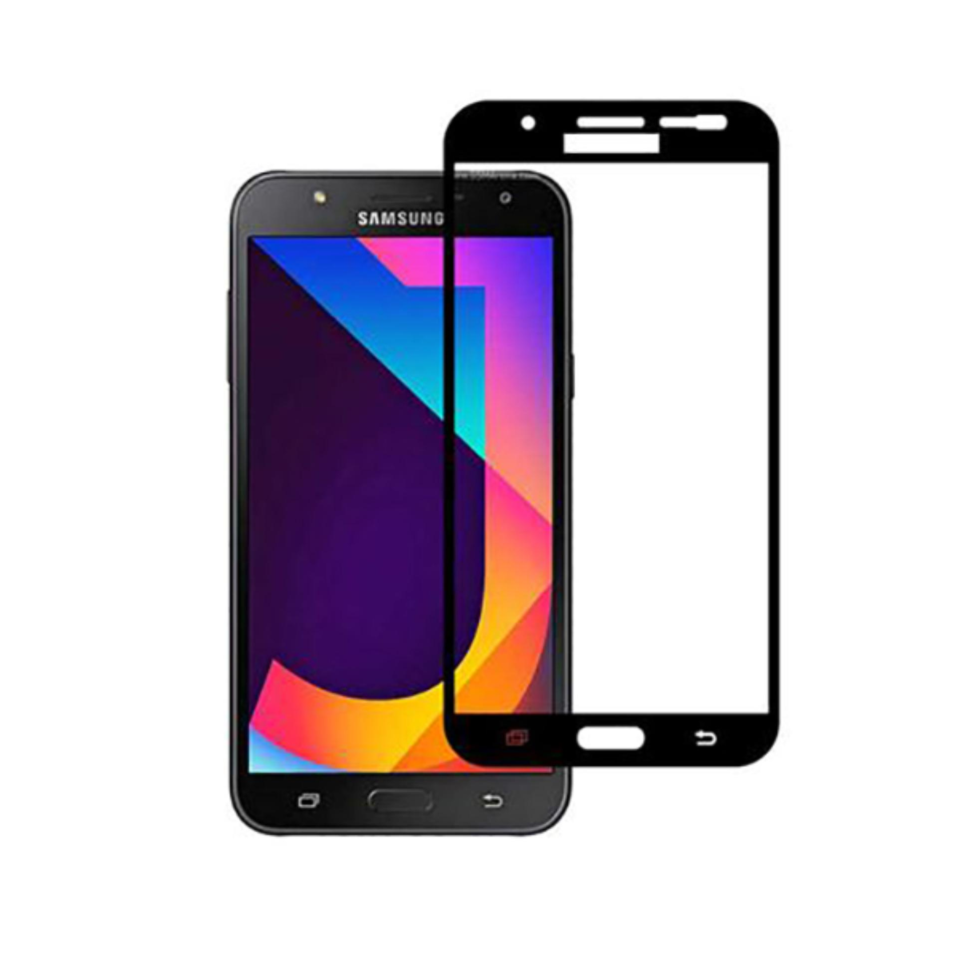 Vn Full Cover Samsung Galaxy J7 Core / J7 (2015) / J700 / 4G LTE / Duos | Premium 9H Tempered Glass 4D Screen Protector Film 0.32mm - Hitam