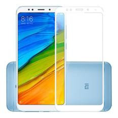 HMC Xiaomi Redmi 5 Plus 2018 - 5.99 inch - 2.5D Full Screen Tempered Glass - Lis Putih