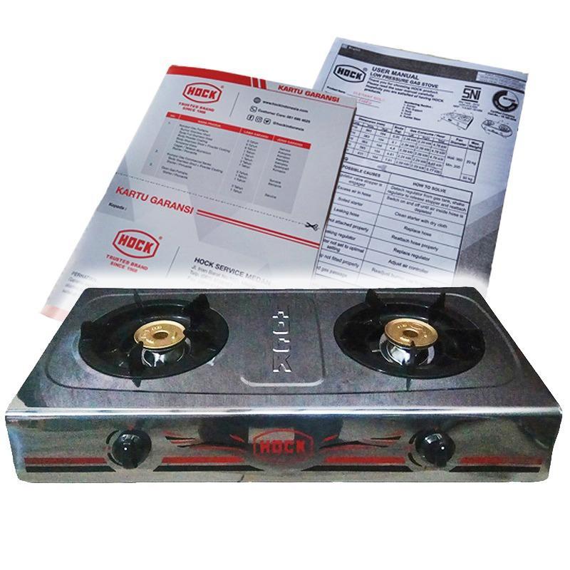 Spesifikasi Hock Kompor Gas Elegant Gold 2 Tungku Hp200Eg Hock
