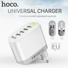 Jual Hoco 5V 4 8A Universal 4 Ports Usb Charger Folding Plug Eu Uk Us Smart Charging Adapter For Apple Iphone Ipad Samsung Xiaomi Hoco Charger Usb 4 Port C19 White Online