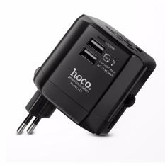 Beli Hoco Ac3 Universal 4 In 1 Dual Usb Ports Convenient Converter Charger Power Adapter 2 4A Fast Charging For 150 Countries Hoco Travel Charger Universal Usb 2 Port Ac3 Black Dki Jakarta