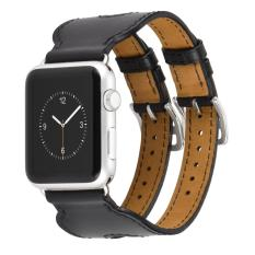 Hoco Double Buckle Genuine Leather Watch Band For Apple Watch 42mm - Hitam