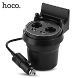 Review Terbaik Hoco Uc207 Cup Shape Multi Function Car Charger With Holder Function Dual Usb 3 1A Fast Charging Intl