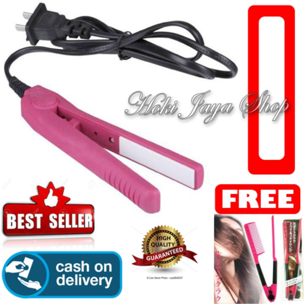 Buy Sell Cheapest Prime Catok Sisir Best Quality Product Deals Fast Hair Straightener Hoki Cod Haidi Mini Pelurus Rambut Multi Colour Gratis Ion