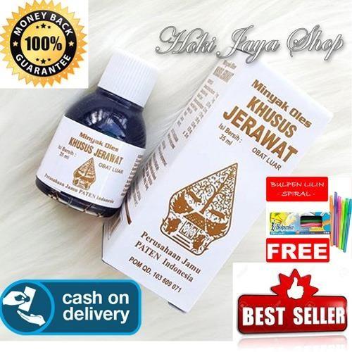 HOKI COD - obat jerawat - Minyak Oles Wayang Khusus Jerawat - 35 ml + Gratis Pulpen Lillin Unik Serba Guna Hitam Pekat - 1 Pcs