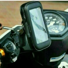Harga Holder Motor Braket Hp Gps Pasang Di Spion Waterproof Up To 5 5 Inch Oem Baru