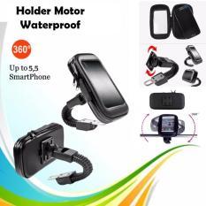 Holder Motor Waterproof Phone Holder Waterproof Holder Bag / Holder Motor Anti Air Untuk Smartphone Up To 5.5 inch 360 Rotation - Hitam