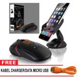 Beli Holder Smartphone Hp Gps Model Mouse Mouse Design Car Dashboard Gps Mount Holder Stand Free Cable Data Micro