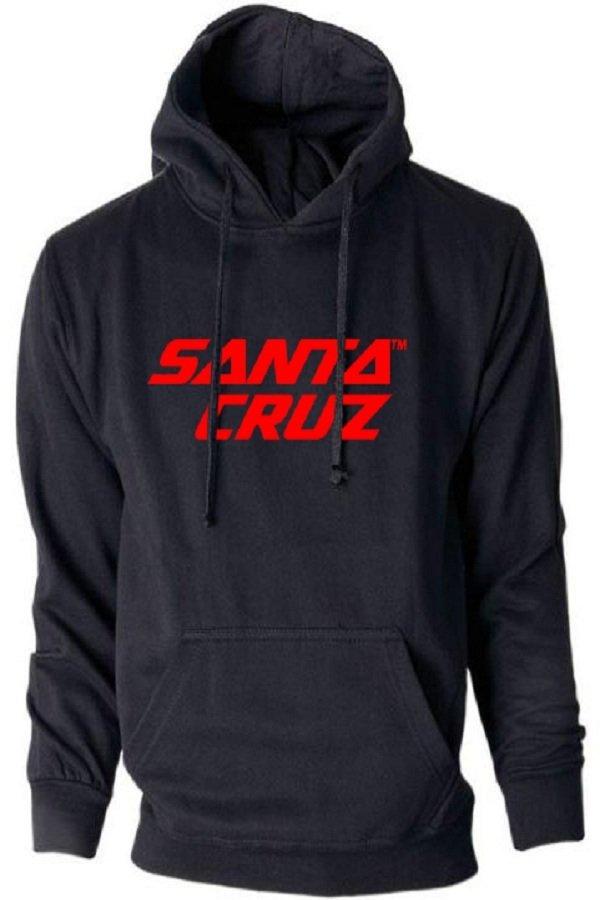 Model Hollic Cloth Hoodie Santa Cruz Hitam Terbaru