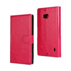 Sarung Flip Stand Dompet Crazy Horse Kulit PU untuk Nokia Lumia 930 (Rose)-Intl