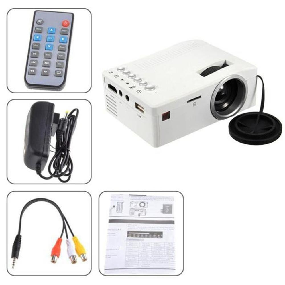 Home Cinema Audio Video Entertainment Device HD Ultra Mini LED Portable Projector - intl