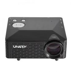 Rumah Media Theater Mini Portable HD 1080 P 3D Multimedia Proyektor LED Dukungan HDMI USB Hitam UK Plug-Intl