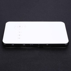 Home Theater Cinemas DLP LED Projector Smart TV Box 2 IN 1 WiFi Bluetooth TF USB--European Plug European Plug - intl