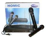 Beli Homic Hm306 Mikropon 2 Pegangan Tanpa Kabel Hitam Cicilan