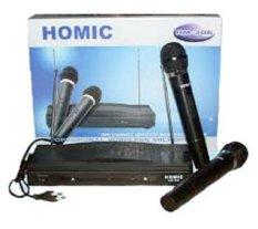 Jual Homic Hm306 Mikropon 2 Pegangan Tanpa Kabel Hitam Homic Asli