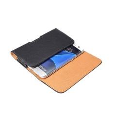 Kantung Kulit Horisontal Cover Holster Belt Clip Case dengan Belt Clip untuk 4 ''Telepon-Intl