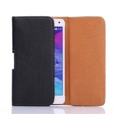 Horizontal Leather Pouch Cover Holster Belt Clip Case with Belt Clip for 5.5'' Phones - intl