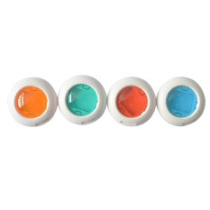Hot Colorful 4 Warna Filter Tutup Lensa Filter untuk Polaroid Mini 8/7 S Dive Kamera Filter 4 PCS/Kit-Intl