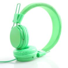 Jual Hot Cute Cartoon Earphone High Quality Fashion Headset Dj Headphone For Girls Kids With Mic Green Intl Tiongkok Murah
