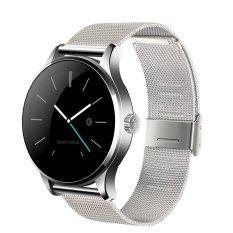 Panas Lemfo K88h Bluetooth Smart Watch Klasik Kesehatan Logam Smartwatch Heart Rate Monitor untuk Android ISO Ponsel Kamera Jarak Jauh Silver- INTL