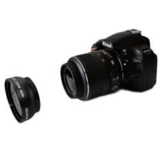 Hot Sale Kamera 52mm 2x Telephoto Tele Lens Converter untuk Nikon D5100 D3200 D70 D40 DSLR Kamera-Internasional
